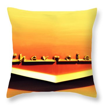 Chevrolet Throw Pillow by Susanne Van Hulst