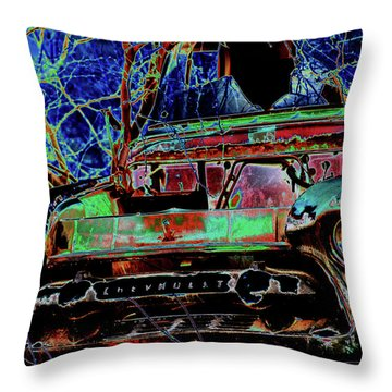 Chevy Long Gone Throw Pillow