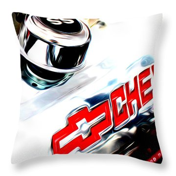 Throw Pillow featuring the digital art Chevy Power by Tony Cooper
