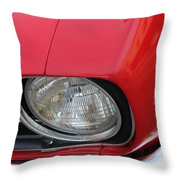 Throw Pillow featuring the photograph Chevy S S Emblem by Bill Owen