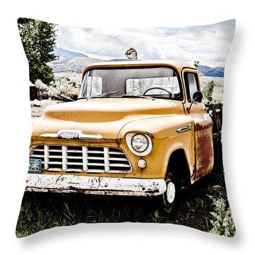 Chevy Taxi Cab  Throw Pillow by Sheri Van Wert