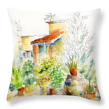 Chez Pauline Throw Pillow by Pat Katz