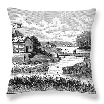 Chicago, 1833 Throw Pillow by Granger