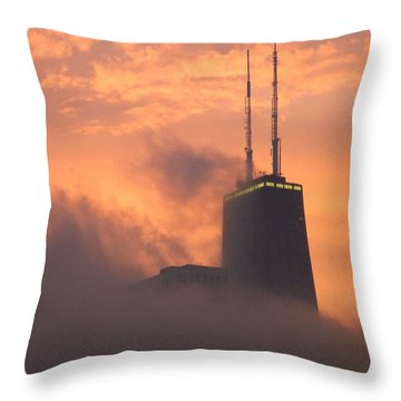 Chicago Dusk Throw Pillow by Valentino Visentini