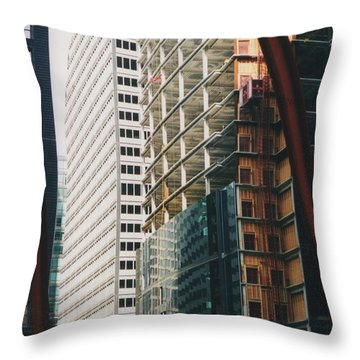 Chicago Geometry Throw Pillow by First Star Art