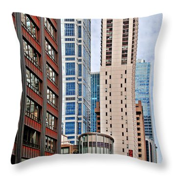 Chicago - Goodman Theatre Throw Pillow by Christine Till