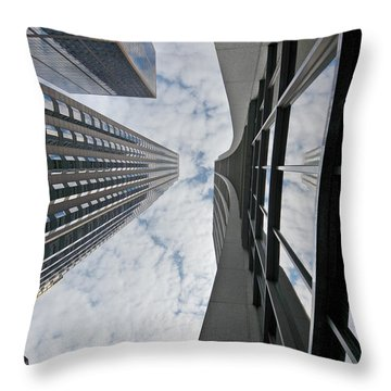 Chicago - Look Towards The Sky Throw Pillow by Christine Till