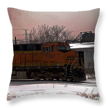 Chicago Train Throw Pillow
