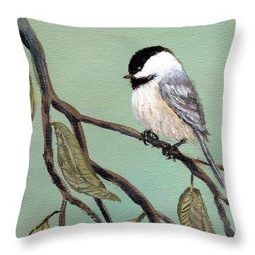 Chickadee Set 10 - Bird 2 Throw Pillow