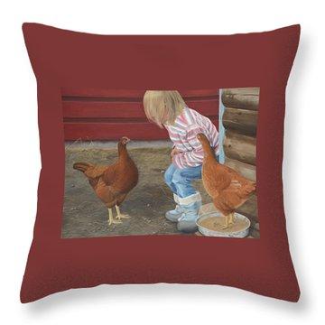 Chicken Talk Throw Pillow
