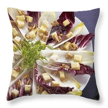 Chicory Salad Throw Pillow by Joana Kruse