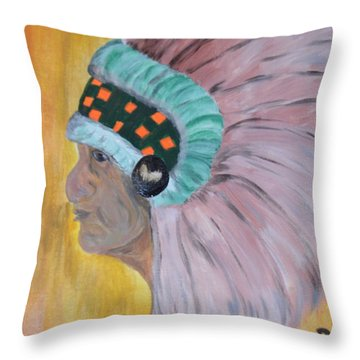 Throw Pillow featuring the painting Chief by Maria Urso