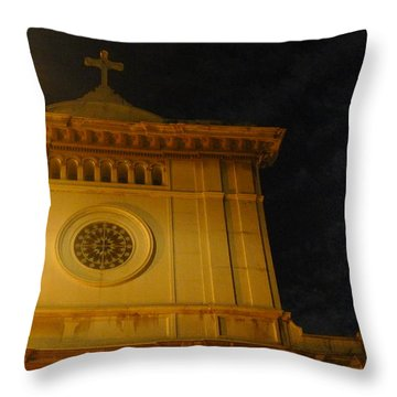 Chiese In Moonlight Throw Pillow by Nora Boghossian