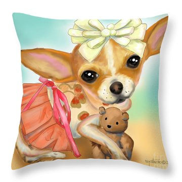 Chihuahua Princess Throw Pillow