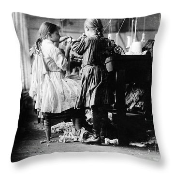 Child Labor Throw Pillow by Omikron