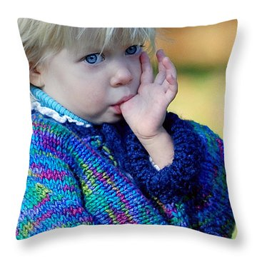 Childhood Throw Pillow by Lisa Phillips