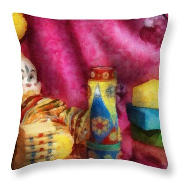 Children - Toy - Earliest Childhood Memories Throw Pillow by Mike Savad