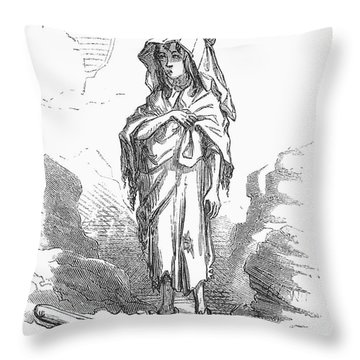 Children: Miners Daughter Throw Pillow by Granger