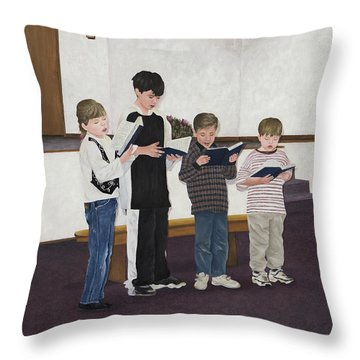 Children Sing Praise Throw Pillow