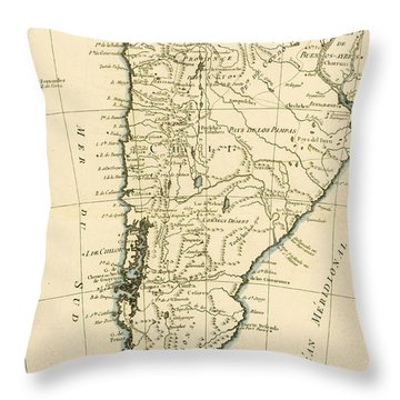 Chile Throw Pillow by Guillaume Raynal