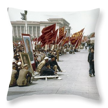 China: Cultural Revolution Throw Pillow by Granger