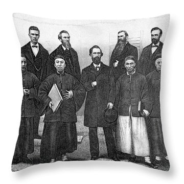 China: Missionaries, 1876 Throw Pillow by Granger