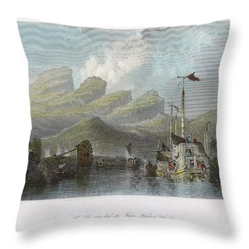 China: Mountains, 1843 Throw Pillow by Granger