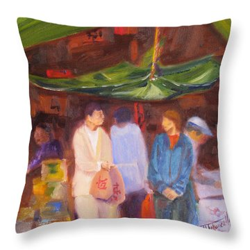 Chinatown  Vancouver Throw Pillow by Mohamed Hirji