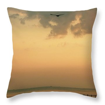 Chincoteaque Island Throw Pillow by Nicola Fiscarelli