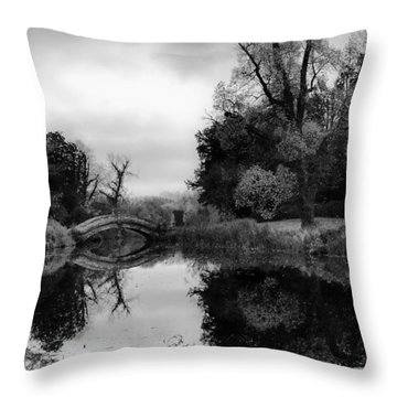 Chinese Bridge At Wrest Park Throw Pillow