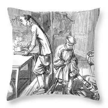Chinese Immigrants, 1855 Throw Pillow by Granger