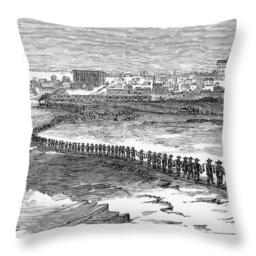 Chinese Laborers, 1870 Throw Pillow by Granger