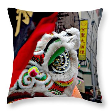 Chinese New Years Nyc  4704 Throw Pillow by Mark Gilman