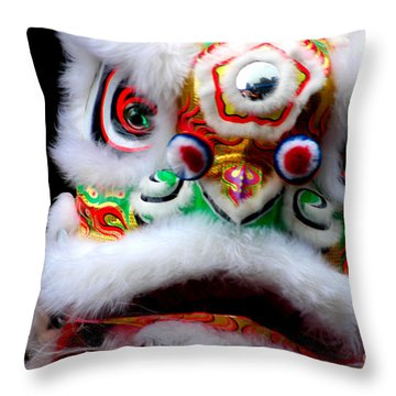 Chinese New Years Nyc 4705 Throw Pillow by Mark Gilman