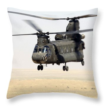 Chinook Cargo Helicopter Throw Pillow