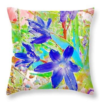 Chionodoxa Throw Pillow by Barbara Moignard