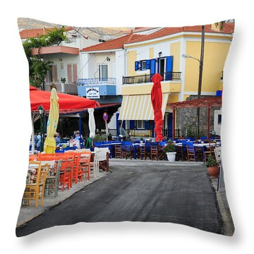 Chios Greece 2 Throw Pillow by Emmanuel Panagiotakis
