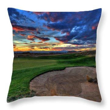 Chip Shot Throw Pillow by Scott Mahon