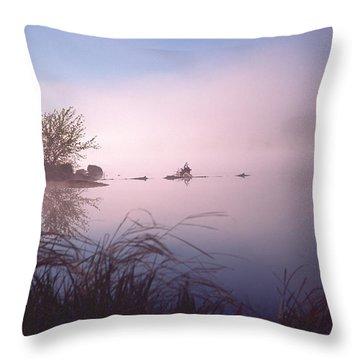 Chippewa River At Dawn Throw Pillow