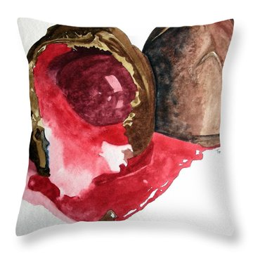 Throw Pillow featuring the painting Chocolate Covered Cherries by Tom Riggs