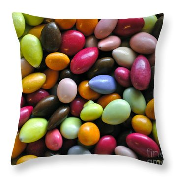 Chocolate Covered Sunflower Seeds Throw Pillow by Gwyn Newcombe