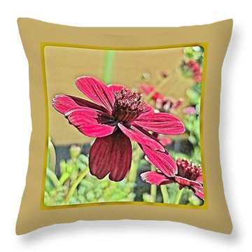 Chocolate Flower Throw Pillow by Hans Fotoboek