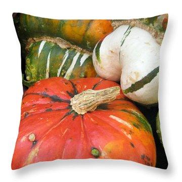 Throw Pillow featuring the photograph Choice Squash by Kathy Bassett