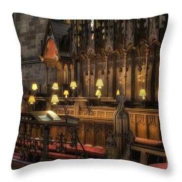 Choir Seating Throw Pillow by Ian Mitchell