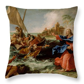 Christ At The Sea Of Galilee Throw Pillow by Sebastiano Ricci