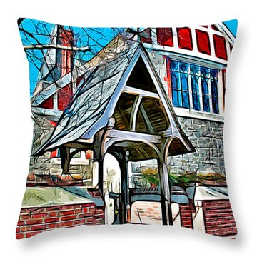 Christ Church Of St Michaels Throw Pillow by Stephen Younts