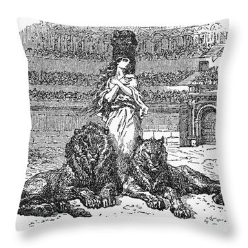 Christian Martyr Throw Pillow by Granger