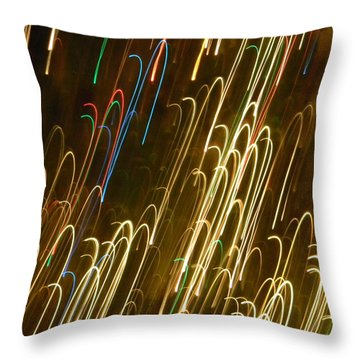 Christmas Card - Candy Canes Throw Pillow