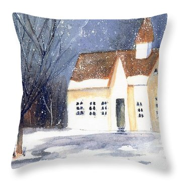 Christmas Eve Throw Pillow by Wendy Cunico