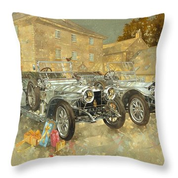 Christmas Ghosts At The Hunt House Throw Pillow by Peter Miller